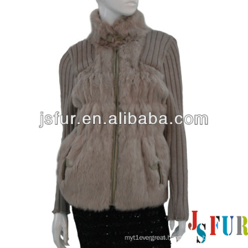 New product hotsale beautiful party rabbit fur and wool garment