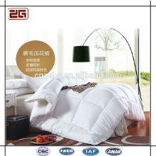 De alta calidad de ganso de relleno de algodón de tapa de la reina estilo del hotel edredón