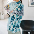 Übergroße Langarm Damen Hemd Hemd Kleid Frauen