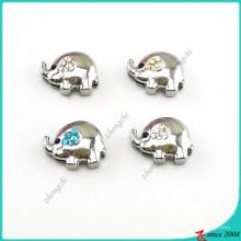 Encantos de elefante de plata para joyas de diapositivas (SC16041907)