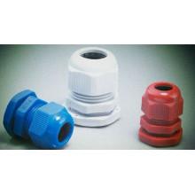 Prensaestopas de plástico Pg 16 con color azul