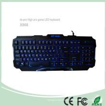 3 colores atado con alambre los teclados del juego de computadora del USB (KB-1901EL)