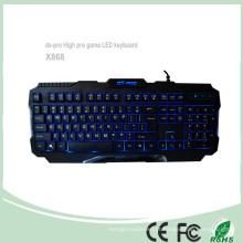 Teclas de teclado de computador USB de 3 cores com fios (KB-1901EL)
