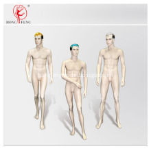 Handsome male mannequin group with full makeup