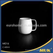 Eurohome hotel suprimentos de porcelana branca durável caneca / caneca de cerâmica-M016