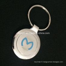 Porte-clés personnalisé Nickel brillant avec Logo encastré pour le Souvenir