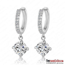 Hearts&Arrows Zircon Hoop Earring Pendientes (CER0004-B)