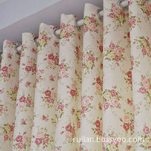 100% Polyester Window Curtain, Double Panels and 3 Layers
