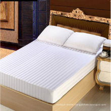 Cotton/Poly Stripe Fitted Sheet for Hotel (DPFT80105)