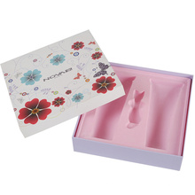 Custom rigid hard board makeup product packaging box with plastic inserts
