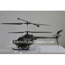 3 CH Hughes Defender Rádio Helicóptero De Controle Remoto Com Camera Helicóptero RC