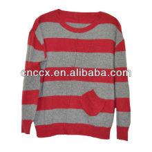 Jersey de jersey de cachemira color tira 13STC5075