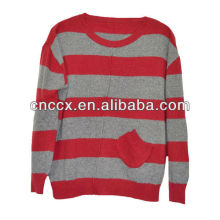 13STC5075 strip color cashmere pullover sweater