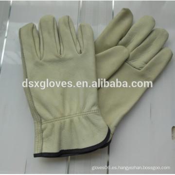 Vaca de alta calidad dividida doble palma de trabajo de cuero guantes