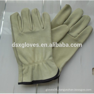 high quality cow split double palm leather working gloves