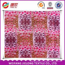 Espaçamento quadrado splicing design africano estampas de cera tecido 6 metros