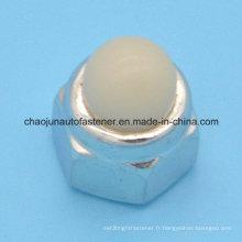 Écrou en caoutchouc nylon en acier au carbone hexagonal (CZ090)