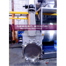 Bevel Gear Operated Knife Gate Valve for Water Treatment Industry