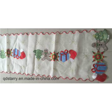 Christmas Embroidery Polyester Table Runner Table Ribbon
