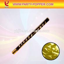 Confetti Cannon mit goldenen Konfetti