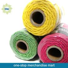 Groothandel gekleurde decoratieve katoen garen touw