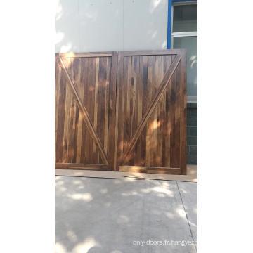 portes intérieures en bois massif noyer noir non finies