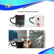 Pigment thermochromique pour tasse / tasse. Poudre de changement de température réversible.