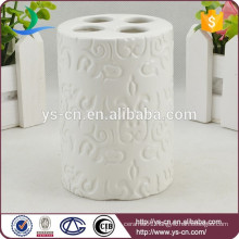 YSb50106-01-th white embossed toothbrush holder