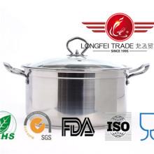 Pot de soupe en acier inoxydable de style européen