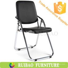 Venta al por mayor sala de espera de precio bajo plegable sillas de conferencias de cuero