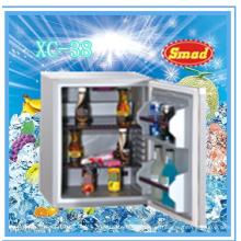 Desktop ereto mini refrigerador a pilhas colorido do gás claro