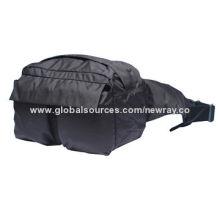 Nylon Taslan Waist Bag, Sized 28 x 13 x 18cm, Adjustable Waist Strap