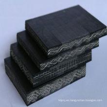 Banda transportadora de tejido sólido de PVC / PVG