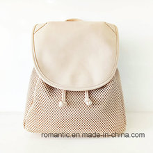 Promotional Lady PU Laser Backpack Women Shopping Backpack Bag (NMDK-041802)