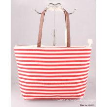 2015 neue Streifen-Segeltuch-Art- und Weisefrauen-Handtasche