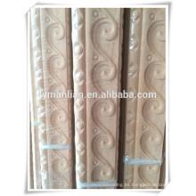 Talla de madera de moldura de madera decorativa china de alta calidad utilizada para la esquina de la pared