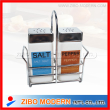 Salt Pepper Set with Metal Lid