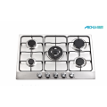 5 Burner Stainless Steel Gas Hob Cooker