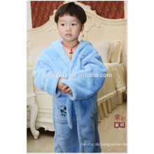 Super weiche Bright Blue Coral Fleece Bademantel für Kinder Altersgruppe