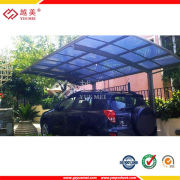 China Good Price Clear Blue Green Polycarbonate Carport