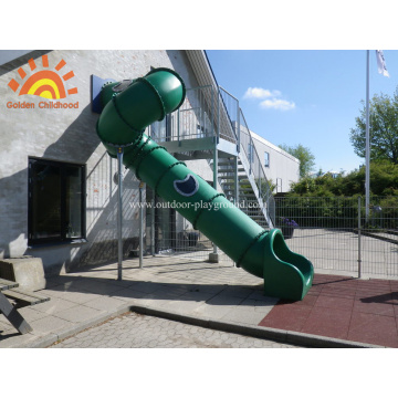 Family Outdoor Backyard Tube Slide Für Kinder