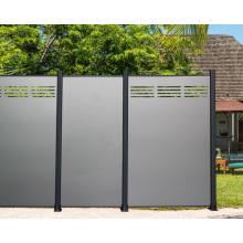 Fence Panel Home Yard Panels Design Aluminum Composite Plastic Modern Garden Fence All-season 15years Powder Coating ACP