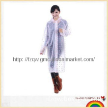 Ladies polka dot EVA long rain coat