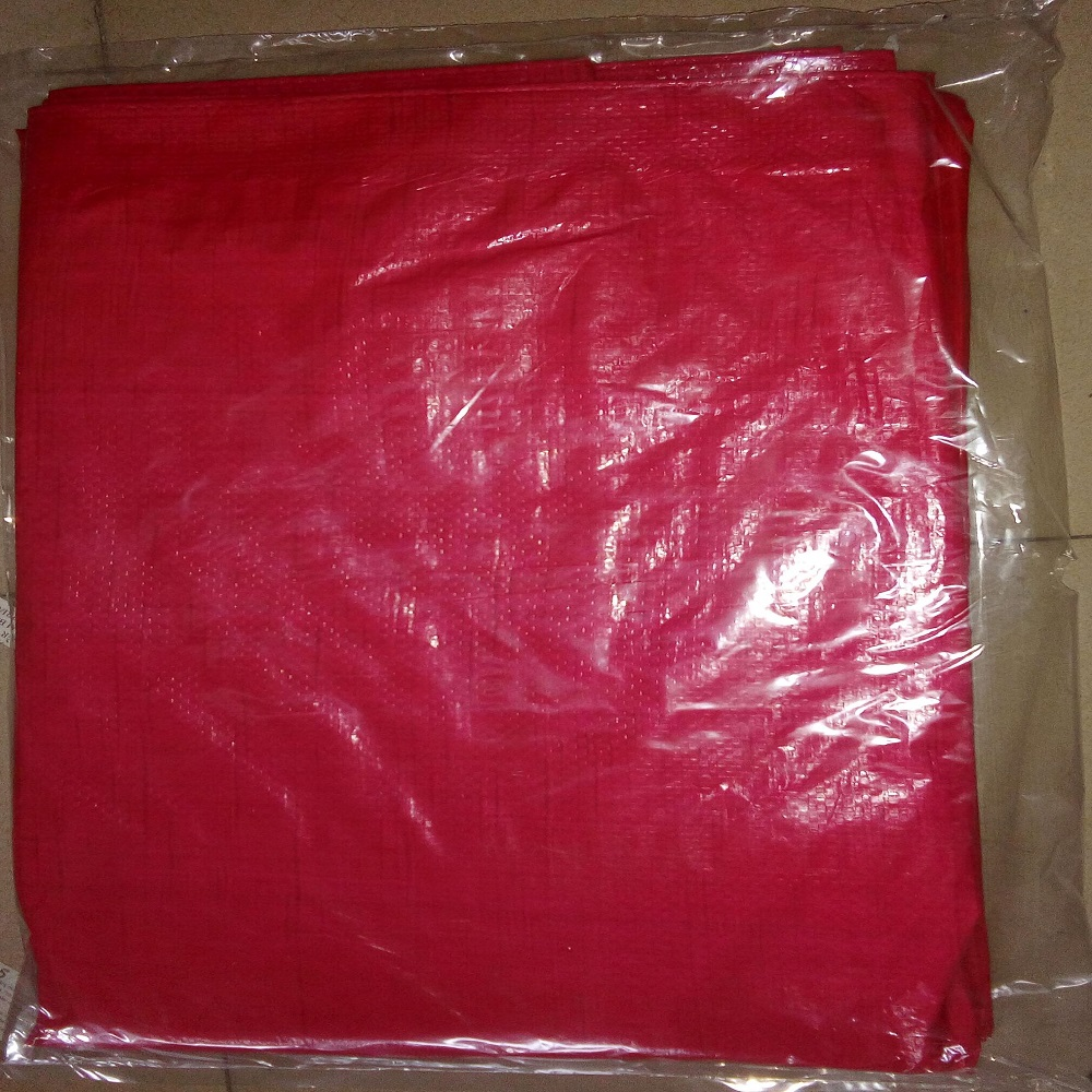Red PE Tarpaulin Packed in Polybag