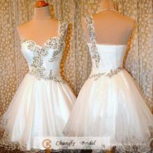 New Arrival Robes de bal 2016 Robes de soirée princesse Robe de soirée Organza White Party