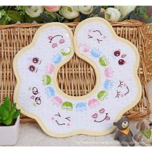 Smile Face Printing Cotton Baby Bib