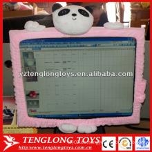 El ordenador portátil del diseño de la manera adorna la cubierta encantadora de la pantalla de computadora de la historieta