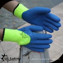 SRSAFETY акриловый лайнер с латексным покрытием для тяжелых условий работы зимние рабочие перчатки