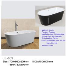 Hermosa bañera de pie de acrílico de acrílico