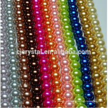 8mm 10mm Mixed Color Glass Pearl